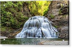 Lower Falls At Treman State Park Acrylic Print