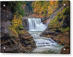 Lower Falls In Autumn Acrylic Print