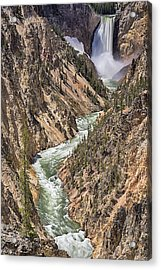 Acrylic Print featuring the photograph Lower Falls by John Gilbert