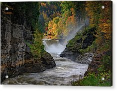 Lower Falls Of The Genesee River Acrylic Print