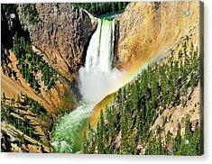 Lower Falls Rainbow Acrylic Print by Greg Norrell