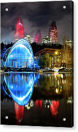 Acrylic Print featuring the photograph Lower Funicular Station by Fabrizio Troiani