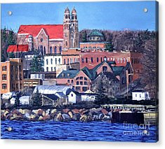 Lower Harbor-marquette Michigan Acrylic Print by Tim Lindquist