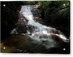 Lower Helton Creek Falls Acrylic Print by Dave Clark