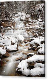 Lower Kent Falls 2016 Acrylic Print by Bill Wakeley