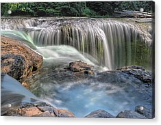 Lower Lewis River Falls Rush Acrylic Print by David Gn