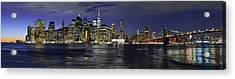 Lower Manhattan From Brooklyn Heights At Dusk - New York City Acrylic Print