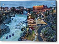 Lower Spokane Falls Early Spring Acrylic Print