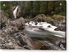 Acrylic Print featuring the photograph Lower Twin Falls by Jeff Swan