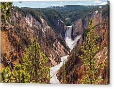 Lower Yellowstone Canyon Falls 5 - Yellowstone National Park Wyoming Acrylic Print