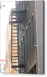 Lowertown Fire Escape Acrylic Print by Janis Beauchamp
