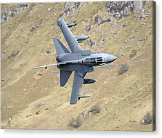 Lowflying Tornado In The Welsh Hills 01 Acrylic Print by Barry Culling