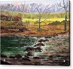 Lowwater Crossing  Acrylic Print