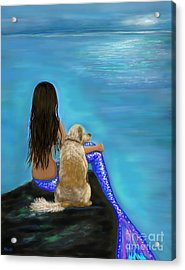 Acrylic Print featuring the painting Loyal Loving Buddy by Leslie Allen