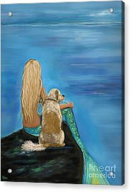 Loyal Mermaids Friend Acrylic Print