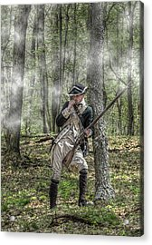 Loyalist Skirmisher  American Revolution Acrylic Print by Randy Steele