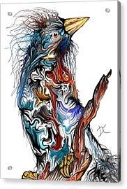 Acrylic Print featuring the digital art Lsd Bird by Darren Cannell