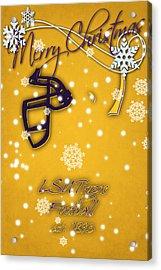 Lsu Tigers Christmas Card 2 Acrylic Print