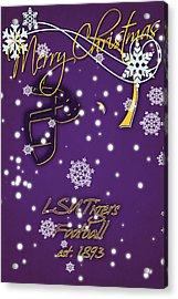Lsu Tigers Christmas Card Acrylic Print