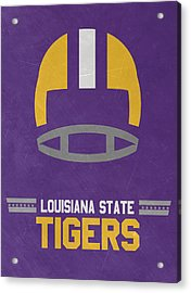 Lsu Tigers Vintage Football Art Acrylic Print