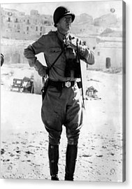Lt. General George Patton, Sicily, 1943 Acrylic Print by Everett