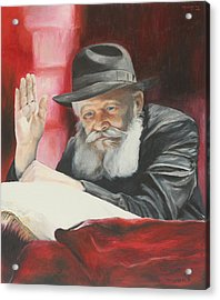Lubavitcher Rebbe Acrylic Print by Miriam Leah