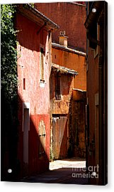 Luberon Village Street Acrylic Print by Olivier Le Queinec