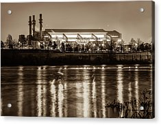 Lucas Oil Stadium - Indianapolis Colts Home Field - Sepia Edition Acrylic Print
