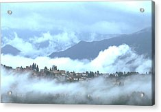 Lucca In The Fog Acrylic Print by Winston Moran