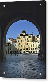 Lucca Piazza Acrylic Print