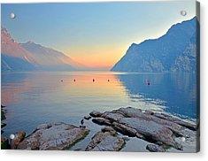 Luce Della Sera Sul Lago Di Garda  Acrylic Print
