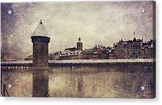 Lucerna, Kapellbrucke Acrylic Print