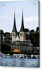 Lucerne Cathedral Acrylic Print by Pravine Chester