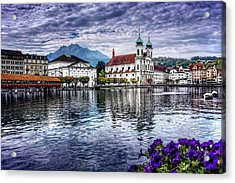 Lucerne In Switzerland  Acrylic Print by Carol Japp