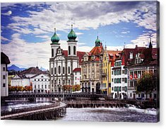Acrylic Print featuring the photograph Lucerne Switzerland  by Carol Japp