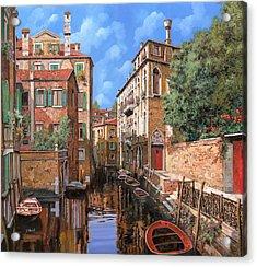Luci A Venezia Acrylic Print by Guido Borelli