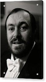 Luciano Pavarotti Acrylic Print