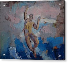 Lucifer Descending Acrylic Print by Michael Creese