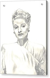 Acrylic Print featuring the drawing Lucille by Carol Wisniewski