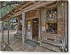 Luckenbach Post Office And General Store_4 Acrylic Print