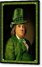 Lucky Ben Franklin In Green Acrylic Print
