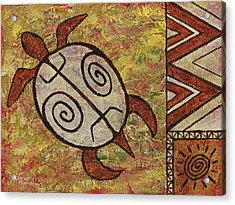 Acrylic Print featuring the painting Lucky Honu by Darice Machel McGuire