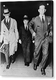 Lucky Luciano 1896-1962, Being Escorted Acrylic Print by Everett