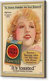 Acrylic Print featuring the digital art Lucky Strike Poster by Chuck Staley