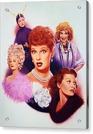 Lucy A Tribute Early Career Acrylic Print by Bill Mather