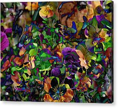 Lucy In Sky Pansies Acrylic Print