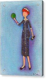 Lucy's Drunken Green Ball Acrylic Print