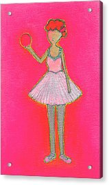 Lucy's Hot Pink Ball Acrylic Print