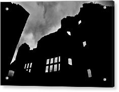Ludlow Storm Threatening Skies Over The Ruins Of A Castle Spooky Halloween Acrylic Print by Andy Smy