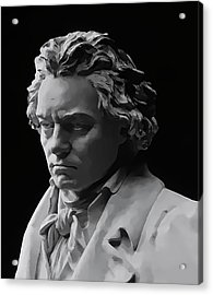 Acrylic Print featuring the mixed media Ludwig Van Beethoven by Daniel Hagerman